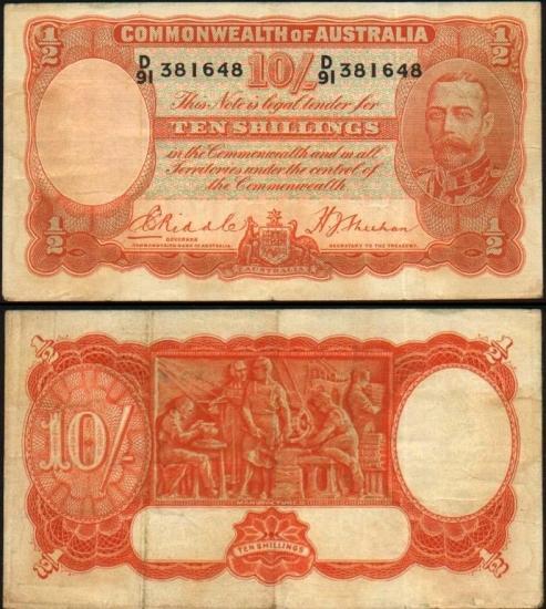 10 Australijos šilingų.