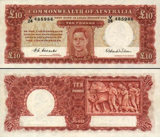 10 Australijos svarų.
