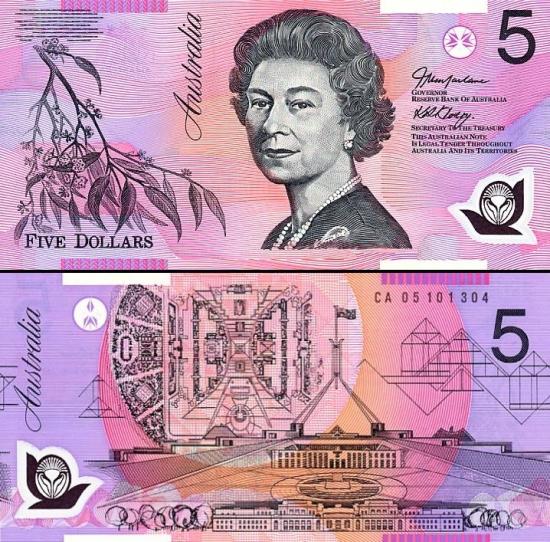 5 Australijos doleriai.