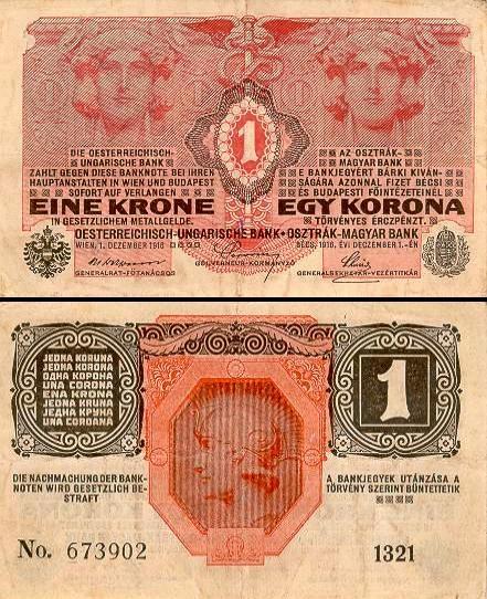 1 Austrijos krona.