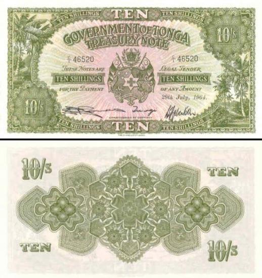 10 Tongos šilingų.