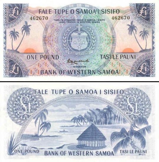 1 Vakarų Samoa svaras.