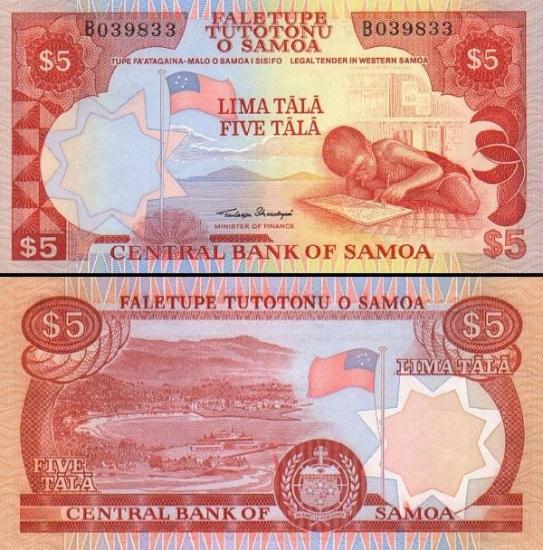 5 Vakarų Samoa talos.