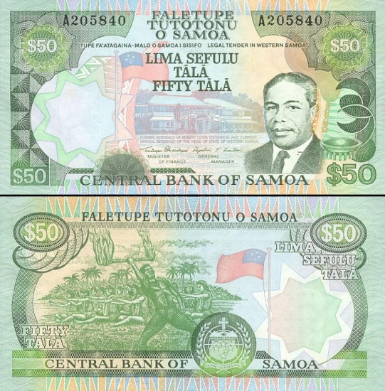 50 Vakarų Samoa talų.
