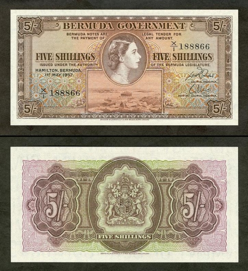 5 Bermudos šilingai.