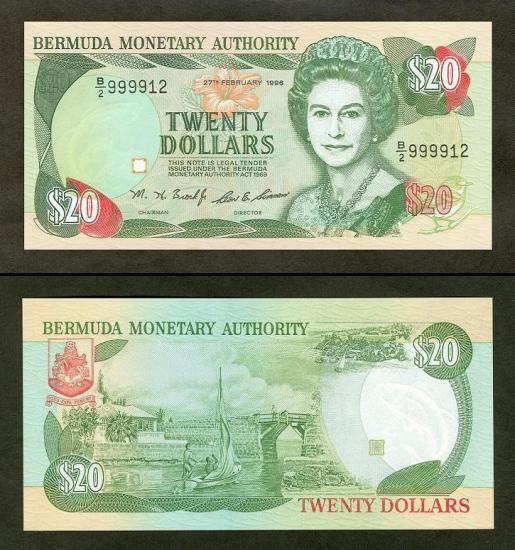 20 Bermudos dolerių.