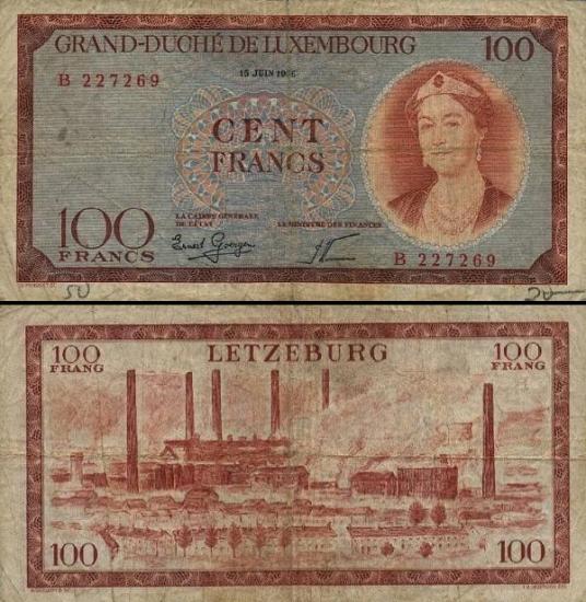 100 Liuksemburgo frankų.