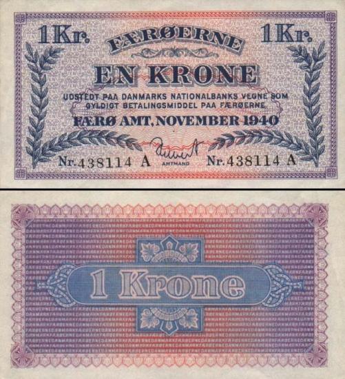 1 Farerų salų krona.