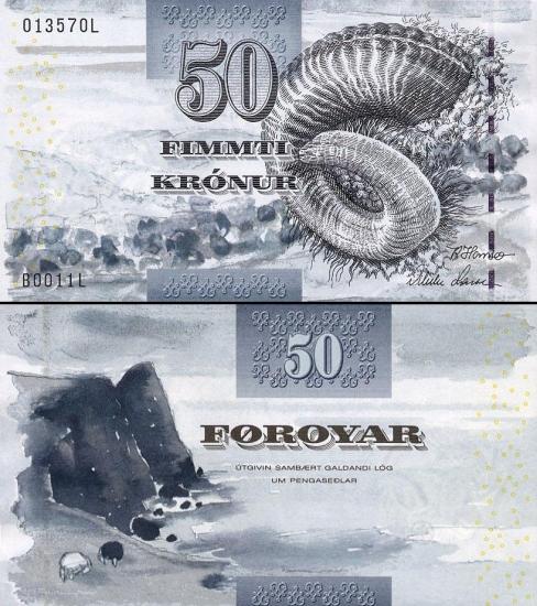 50 Farerų salų kronų.