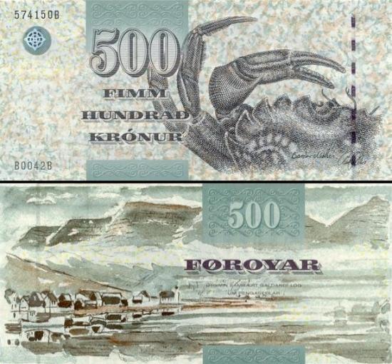 500 Farerų salų kronų.