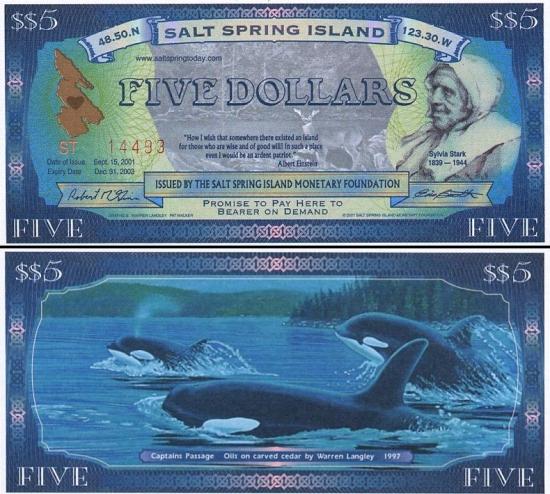 5 Kanados doleriai.