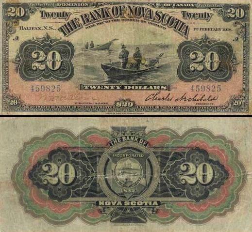 20 Kanados dolerių.