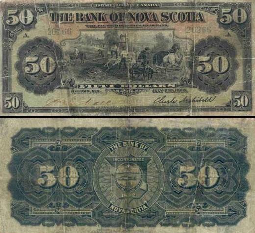 50 Kanados dolerių.