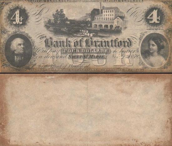 4 Kanados doleriai.