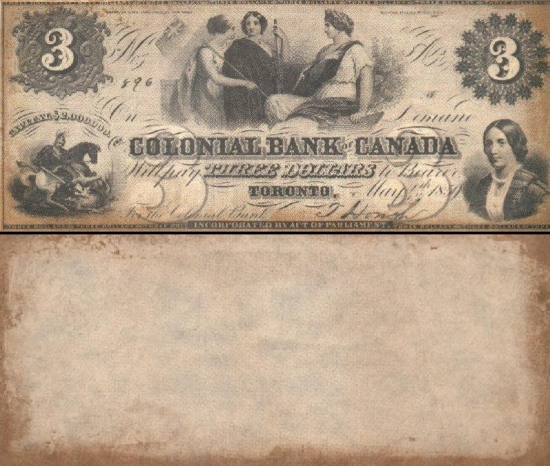 3 Kanados doleriai.